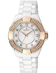 Radiant RA257202 - Reloj con correa de caucho para mujer, color blanco / gris