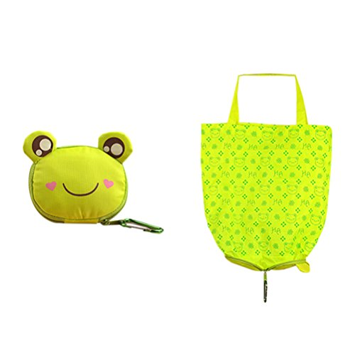 xiaoqing-pack-of-4-styles-cartoon-foldable-reusable-eco-shopping-tote-bag
