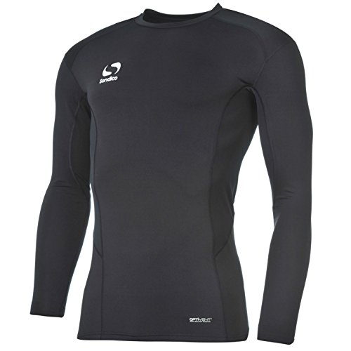 Sondico Kids Long Sleeve Core Base Layer Top Junior Compression Fit Sports Navy 9-10 Yrs