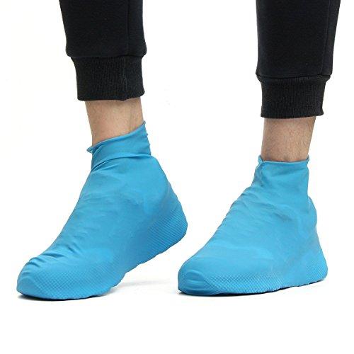 Age Care Outdoor Antiskid Waterproff Reusable Rain Shoe Boots Cover Fashionable Slip-Resistant Rubber Rain Boot Overshoes for Men and Women Rainproof Shoes Cover 414zxaxpGiL