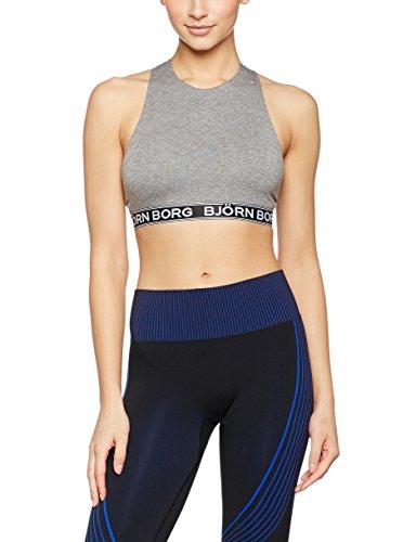 Björn Borg Iconic Crossback Top, Noos Solids, 1-P, T-Shirt de Sport Femme Gris (Gris mélangé)