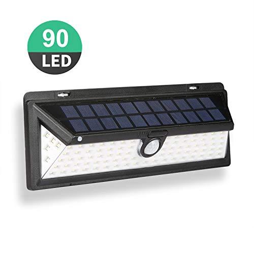 Luces seguridad sensor movimiento solar aire libre