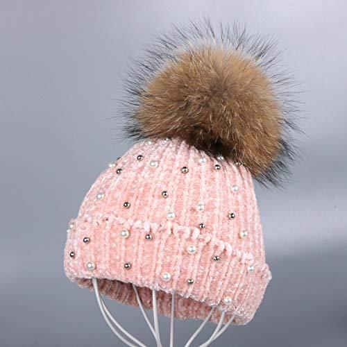 JJHR Mütze Design Frauen Chenille Winter Mütze Beanies Echte Floralwinter Hüte Für Die Frau -
