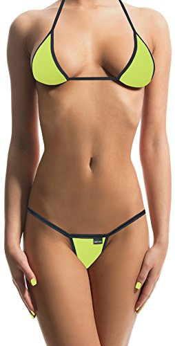 Sohimary MINI PERIZOMA 417 TANGA STRING PRODOTTO IN GERMANIA bikini giallo 226