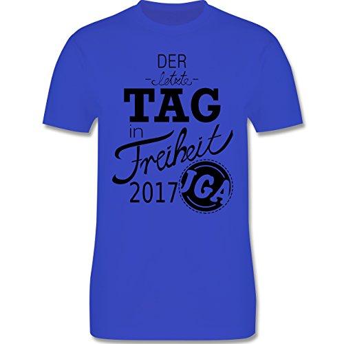 JGA Junggesellenabschied - Der letzte Tag in Freiheit 2017 - Herren Premium T-Shirt Royalblau