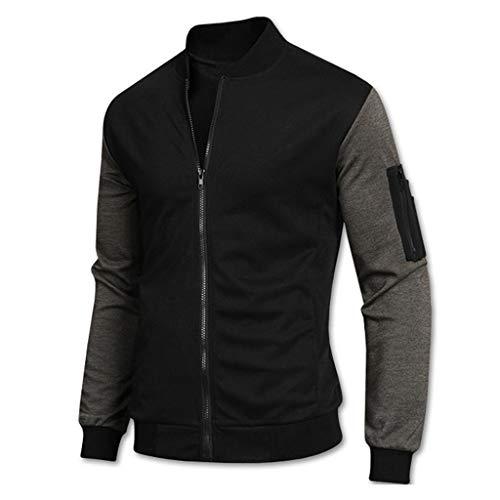 Setsail Liebhaber Fashion Herrentel Gewinner Langarm Spleißen Sweatshirt Top T-Shirt Bluse Jacke Herrentel -