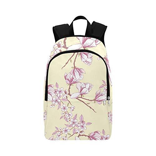 Magnolien-Apfelbaum-Hand-beiläufige Daypack-Reisetasche College-Schulrucksack für Männer und Frauen -