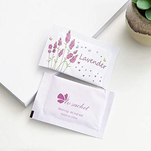 MENGZHEN Lot de sachets parfumés pour intérieur Désodorisant Naturel Anti-Mites pour placards, Lavande, 8.5 * 5.5 * 0.2cm