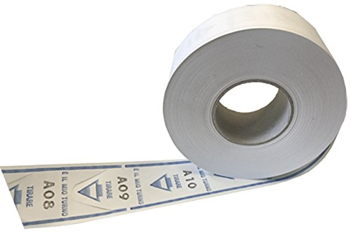 Sa.Ba.Cart 43000402003 Confezione 40 Rotoli da 2000 Tickets Eliminacode Coda di Rondine, Blu