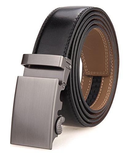 Nelbons Hombre Cinturón-Cuero Automática Cinturón De Hombre 35MM-Tamaño Ajuste