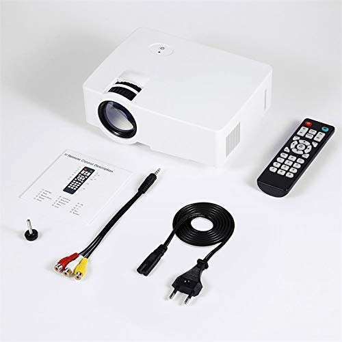Clover E08S Projector 200 Lumen 800 x 480 HD LED Cinema IR Control Wired Same Screen Clover Electronics Usb