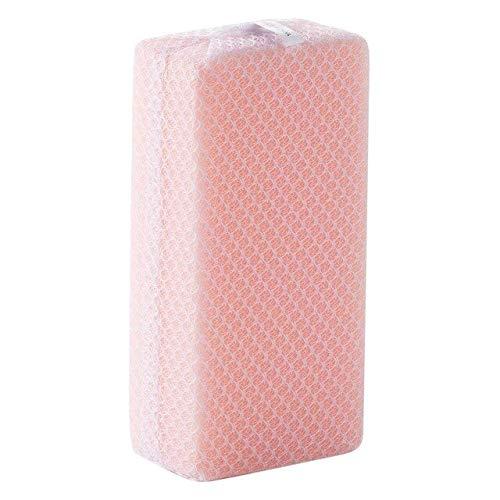WanTo 5pcs Küchenschwamm mit Net Bag Rag Dish Schwamm Magic Sponge Eraser Soft Dish Geschirr Waschlappen Küchentopf Pinsel, Pink - Rag Bag