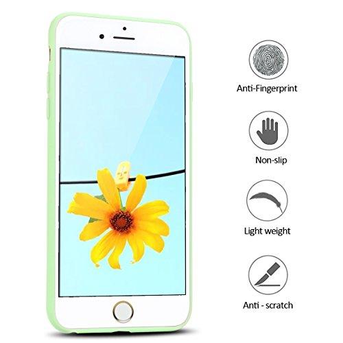 Coque iPhone 6 Plus , Etui iPhone 6 Plus TPU Housse en Silicone Gel Flexible Souple Ultra Mince de Protection Case Cover Mode Dessin Motif 3D Cartoon Animaux Mignons Panda Pour Apple iPhone 6 Plus (5. Vert
