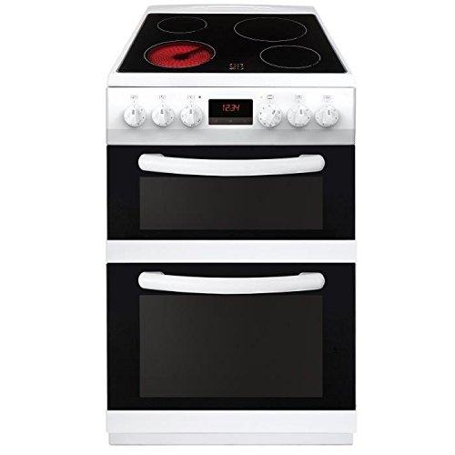 CONTINENTAL-EDISON CVDF6060W - Cuisiniere table vitrocéramique-4 zones-Fours électriques-Catalyse-45 et66L-A-L60xH90cm-Blanc