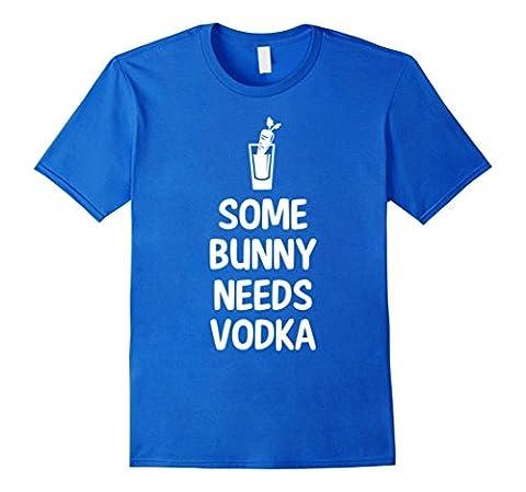 Men's Some Bunny Needs Vodka Liquor Easter Joke T-Shirt 3XL