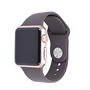 Cellfather for Apple iwatch strap band 42mm Cocoa silicon Apple watch I Watch Band