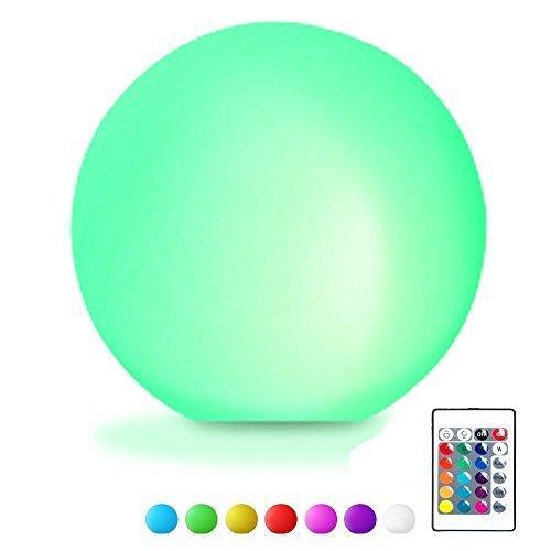 LED Ball Stimmungslicht, EONANT Globe Swimming Pool Floating Light Wasserdicht 16 Modus wechselnde Farbe mit Fernbedienung Kinder LED Nachtlicht Innen Außenbeleuchtung (12cm/4.72