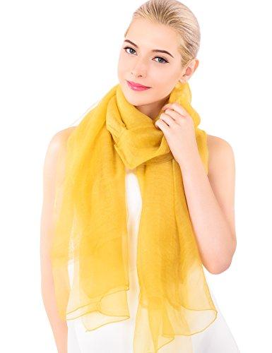 Advanova foulard/sciarpa seta e lana per donna, scialle elegante e alla moda 78