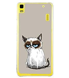 Grumpy Cat 2D Hard Polycarbonate Designer Back Case Cover for Lenovo A7000 :: Lenovo A7000 Plus :: Lenovo K3 Note