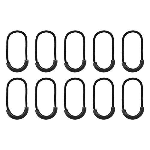 Zipper Pulls Cord 10 Stück/Beutel EDC schwarz kleine Lariat Seil Clip Schnalle für Kleidung Rucksack Reißverschluss Schwanz Zubehör