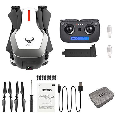Sunnywill SG906 GPS 5G WiFi FPV con 4K Ultra Clear Camera Brushless Selfie Pieghevole GPS / Portata Ottica Posizionamento 120 ° Telecamera grandangolare Hover RC Drone Quadcopter + Borsa