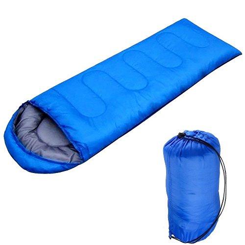 Honeystore Camping & Outdoor 180T Pongé Sommer Schlafsack-Deckenschlafsack (180+30)*75 CM Blau