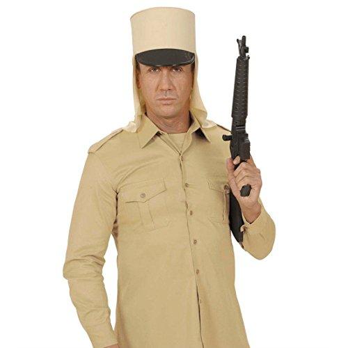 NET TOYS Fremdenlegion Kepi Uniform Hut beige Frankreich Legion Cap Historische Soldaten Mütze Militär Kopfbedeckung Armee Kostüm Zubehör