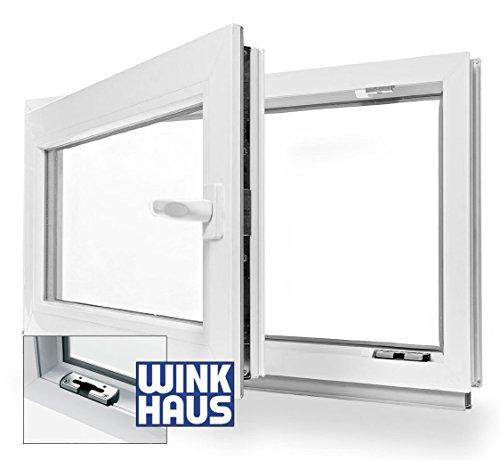 Kellerfenster Kunststoff Fenster Dreh Kipp 50 x 40 cm / 500 x 400 mm Winkhaus Beschlag Isolierglas DIN Links