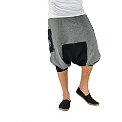 virblatt - Pantalones Vaqueros Cortos para Hombres y Mujeres como Ropa etnica -KleinerBruder