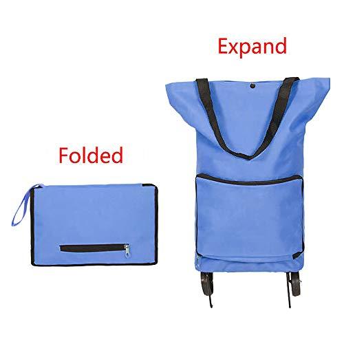 GUOQY Carrello Spesa Pieghevole Carrello Spesa Trolley Pieghevole Shopping Bag Pieghevole con Ruote