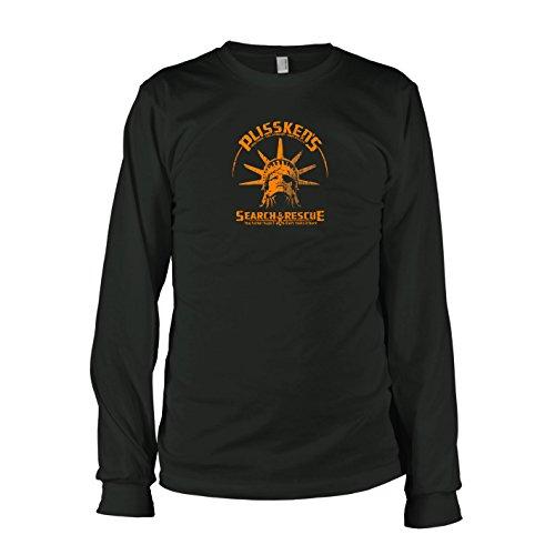 TEXLAB - Plissken's Search and Rescue - Langarm T-Shirt, Herren, Größe XXL, schwarz (Snake Plissken Kostüm)