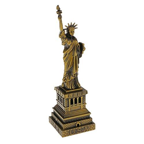 Freiheitsstatue Replika Modell Kupfer American New York Figur Souvenirs Andenken - Bronze, H: 15CM