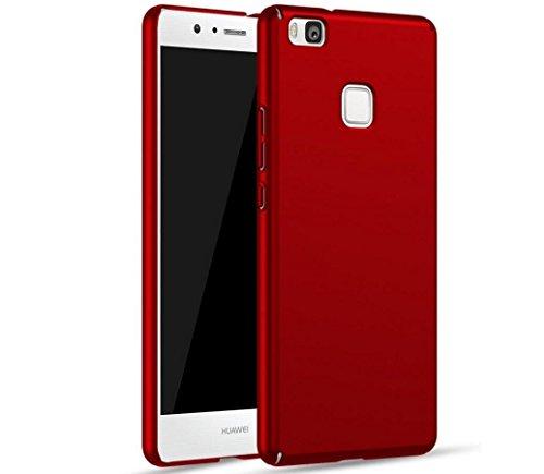 Custodia Huawei P8 Lite ,SUNSU® Ultra-Sottile & Rugged Case [Anti scivolo] [Adattamento perfetto] Scrub PC Shell Cover Custodia Per Huawei P8 Lite & HD Pellicola Protettiva Huawei P8 Lite - Rosso