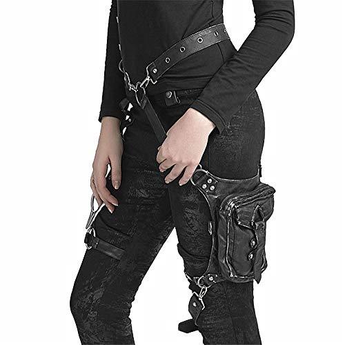 Zaini da Trekking Steampunk Marsupi Borse da Moto da Donna Borse a Tracolla in Pelle Gotica Vintage personalità Multiuso