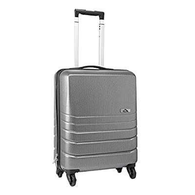 Cabin Max ® Toronto 55x40x20cm Lightweight Hard Shell Trolley 4 Wheel Cabin Case Approved for Ryanair, Easyjet, Thomas Cook, etc