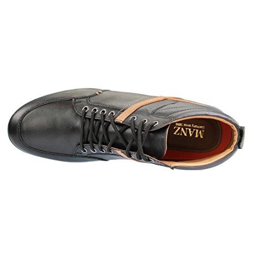 MANZ - 104017 - Herren Sneakers - Schwarz Schuhe in Übergrößen Schwarz