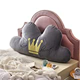 Shuihua-kaodian Cloud Kopfteil Kissen Kissen, Kinderbett Kissen Soft Rückenlehne Kissen, 5 Farben, 3 Größen, (Farbe : Gray, größe : 150 * 75cm)