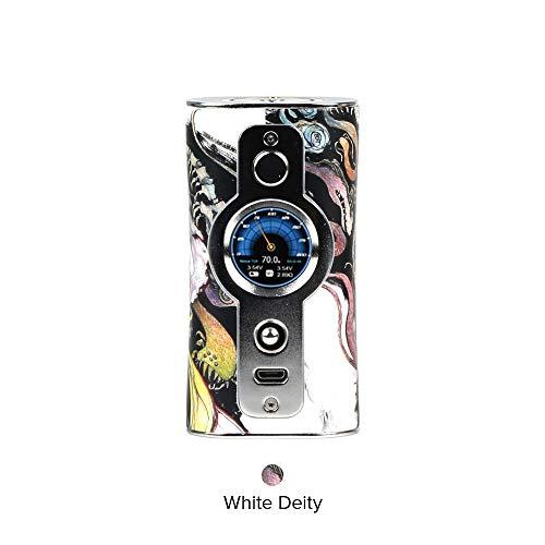 E Zigarette Akku Vsticking VK530 200W TC Box Mod, duale 18650-Batterie TFT IPS HD-Bildschirm, 5-10 Individuelle Hintergrundbilder-Ohne Nikotin Ohne Tabak (Sliver& White Deity) -