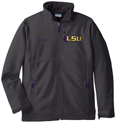 NCAA LSU Tigers Collegiate Ascender Softshell Jacke, Jungen, Grill, Medium -