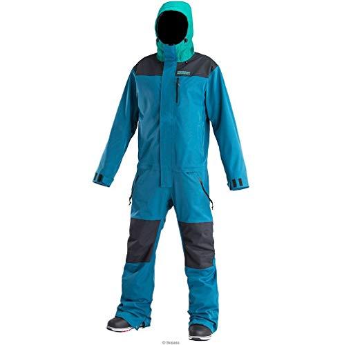 AIRBLASTER Herren Freedom Anzug Skianzug, blau türkis, L EU