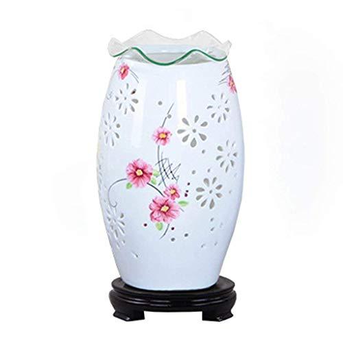 DEED Tischlampe-Persönlichkeit Einfache Nachttischlampe Schlafzimmer Lampe Chinesische Keramik 6W * LED Intelligent Light Intelligent Fernbedienung zu senden Leselicht Nacht -