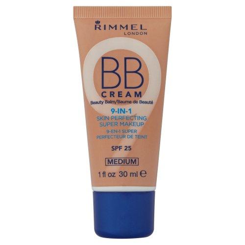 Rimmel BB Cream 9 In 1 Skin Perfecting Super Make Up SPF 25 30ml-Medium (Rimmel Cream Bb)