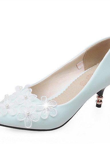 WSS 2016 Chaussures Femme-Mariage / Habillé / Décontracté / Soirée & Evénement-Noir / Bleu / Rouge / Blanc-Talon Aiguille-Talons-Chaussures à red-us4-4.5 / eu34 / uk2-2.5 / cn33