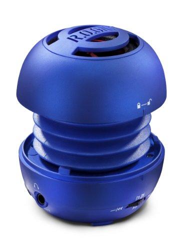 R.O.GNT CAPSPEAK-0003-45 Capsule - Altavoz con batería (radio FM, 80dB, 370mAh, tarjeta SD, USB), color azul [Importado de Alemania]