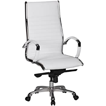 Schreibtischstuhl weiß leder  AMSTYLE Bürostuhl SALZBURG 1 Bezug Echt-Leder Weiß Design ...