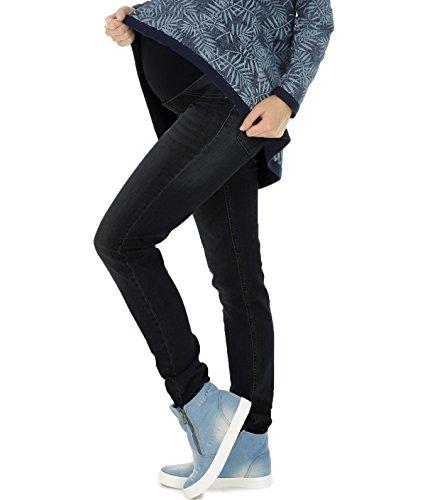 Schwangerschaftshose Jeans Umstandshose Damen Hose Straight (32L & 36L) (XXL (Herstellergröße: 44/32L), Black Dark Wash)