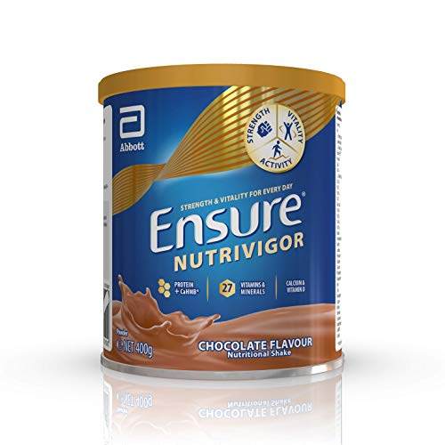 Ensure Nutrivigor Food Supplement 400g Chocolate Flavour with Protein and Vitamin D