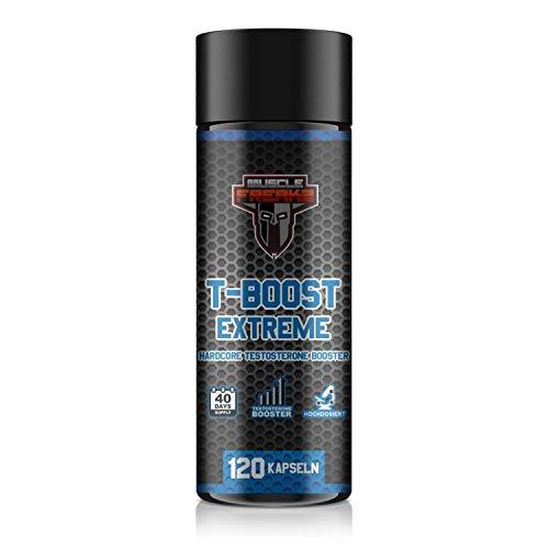 T-Boost Extreme, Hardcore Testosteron-Booster, 120 Kapseln für 40-Tage Kur, 10-Komponenten, mit Bockshornklee + Maca + Ginkgo + Ginseng -