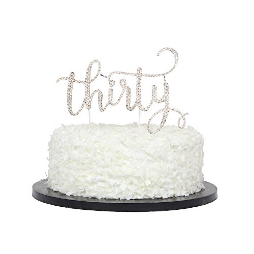 Dreißig Kuchen Topper, Strass Kuchen, Dekore für 30. Geburtstag Party/Hochzeit Anniversary Party Dekorationen