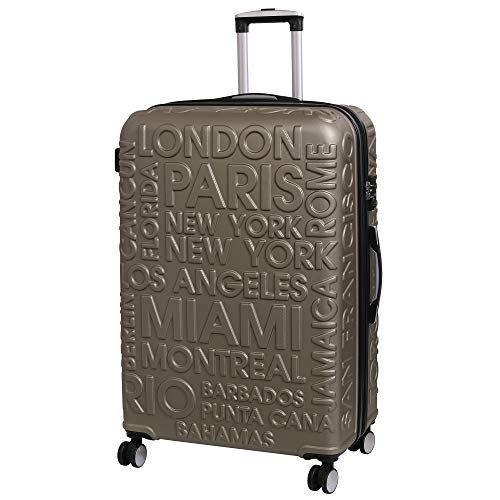 it luggage Destinations II - 8 Wheel Hard Shell Single Expander Suitcase with TSA lock Valigia, 80 cm, 161 liters, Oro (Gold)